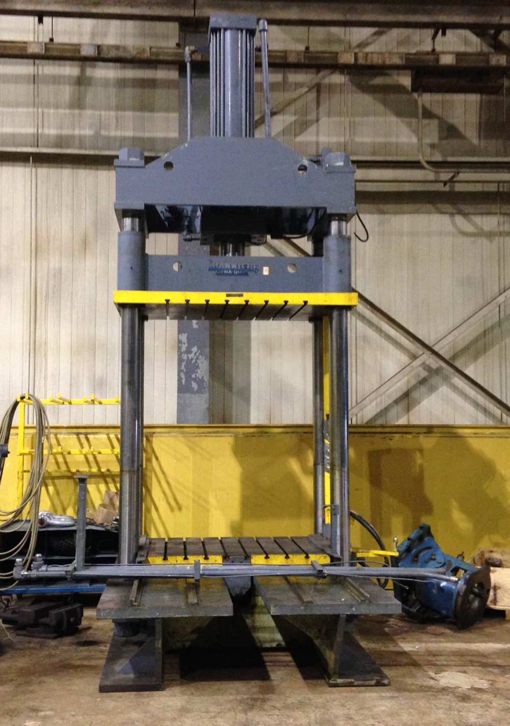 Used Presses For Sale - Hannifin - Dyna-Quip 4-Post Hydraulic Die