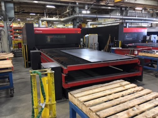 4000 WATT AMADA FOM2-4222, 7 x 13 1/2 DUAL PALLET,MFG:2012   Our stock number: 11555