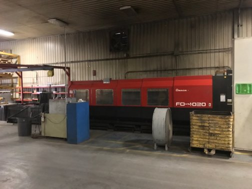 4000 WATT AMADA GEMINI FO4020 CO2 LASER 6 X 13,MFG:2003   Our stock number: 11594