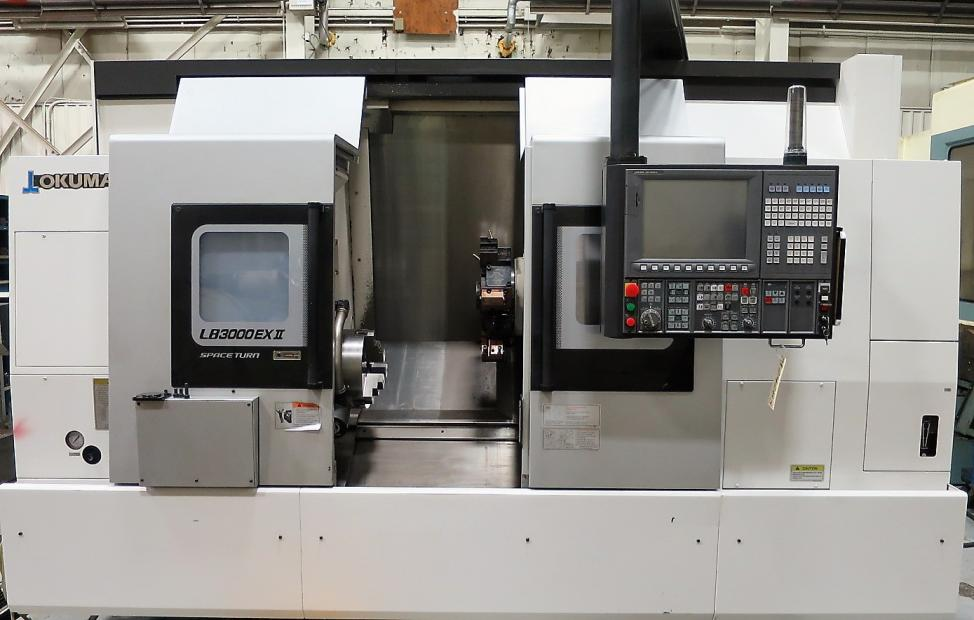 OKUMA LB3000EXII MY BB 950 CNC TURNING CENTER