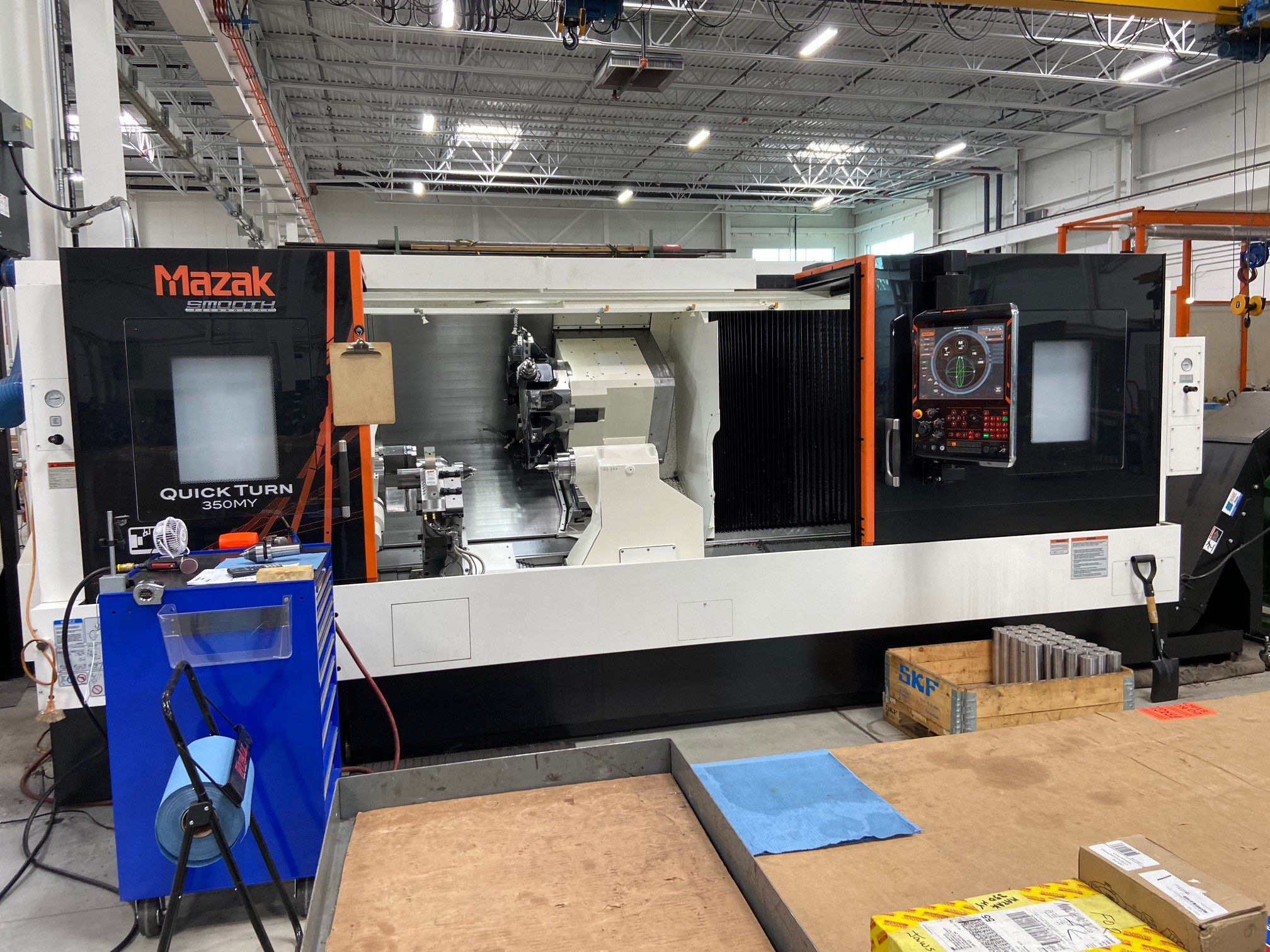 """2018  Mazak 350 MY  Turning & milling Center ,120"""" centers , Loaded with options , CNC  """" Smooth G"""" controls"""